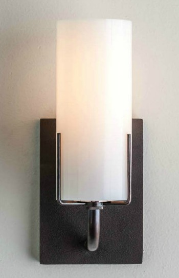 4401 Evergreen Sconce Opal Cylinder