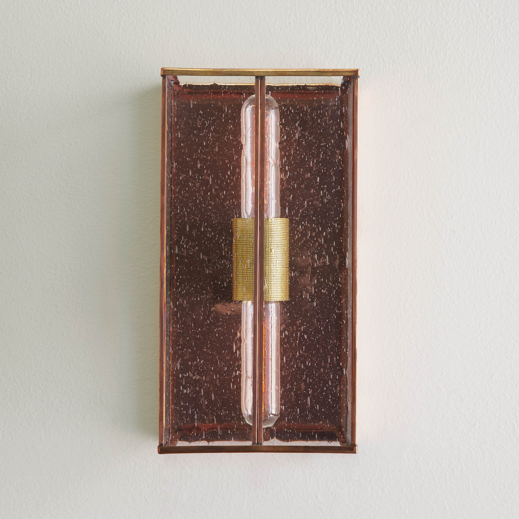Ruby Wall Bracket, copper with brass accent (front), wall brackets