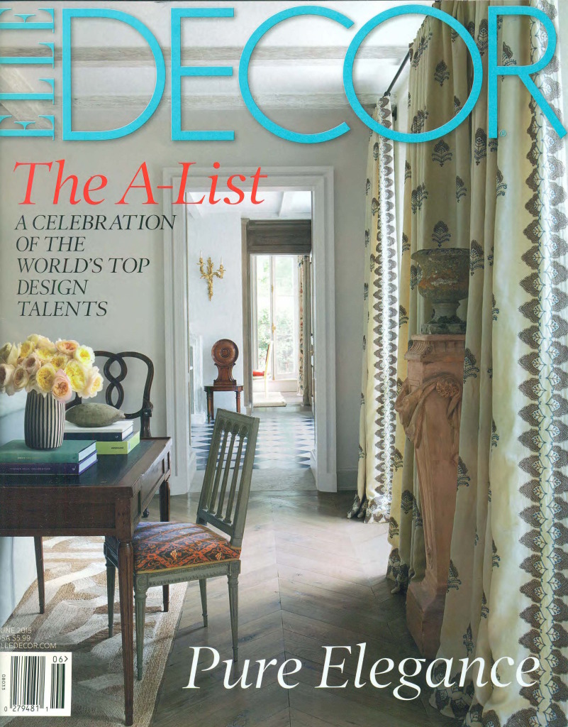 Elle Decor June 2015 Cover