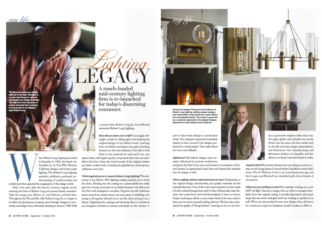 Gentry Home: Lighting Legacy Article