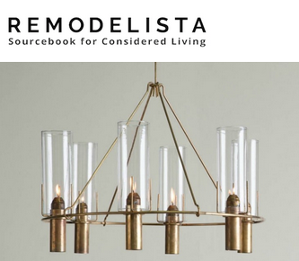 The Oliver Chandelier gets a mention on Remodelista's blog.
